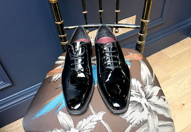 handmade patent leather shoes
