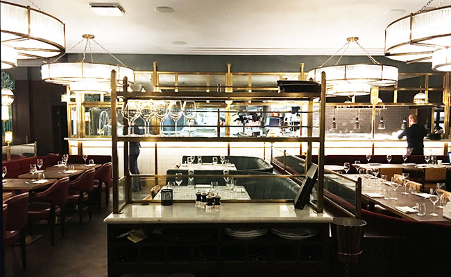 kitchen servery at Barbecoa
