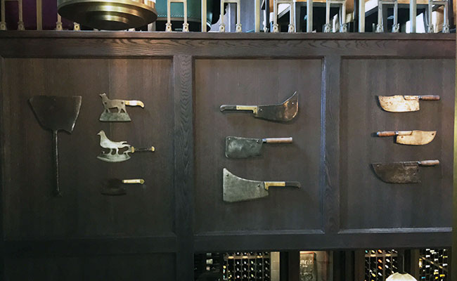 meat knife display Barbecoa