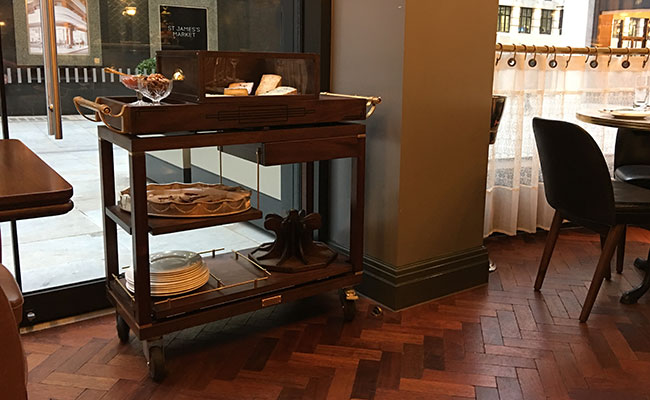 antique cheese trolley Italy