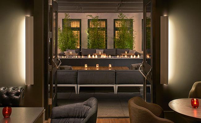 hotel terrace restaurant bar