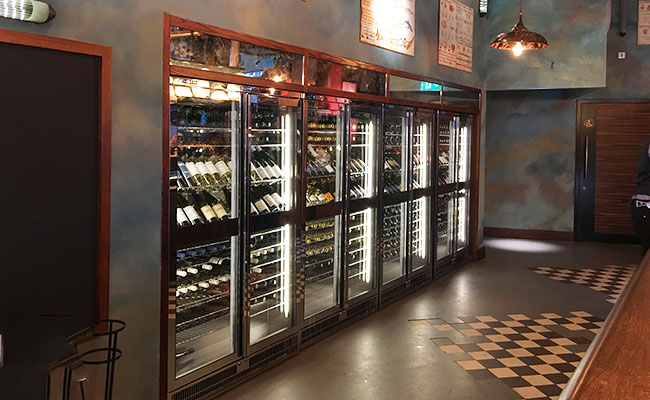 wine fridge display