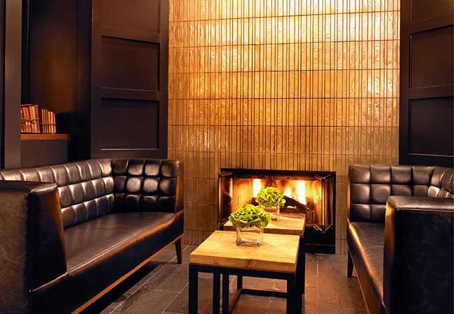 hotel fireplace seating