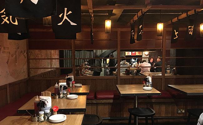 Japanese restaurant seating idea