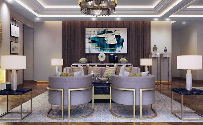 Spacious and elegant with a comfortable seating area for guests and an open-plan layout and dining room for six, these suites are ideal for entertaining.  Pièce de résistance is the fireplace in front of the comfortable yet chic sitting area, whilst floor to ceiling glass doors add to indoor outdoor feel.