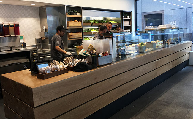 Mixt salad counter design