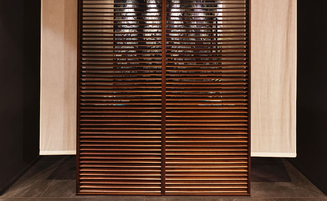 private dining room screen  in Asian restaurant