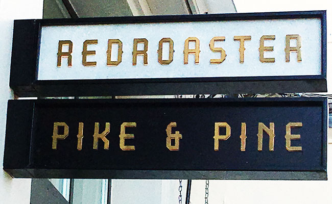 red roaster sign