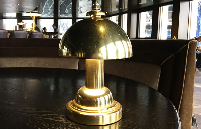 restaurant table lamp