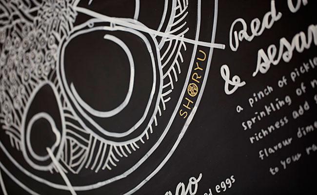 ramen chalkboard