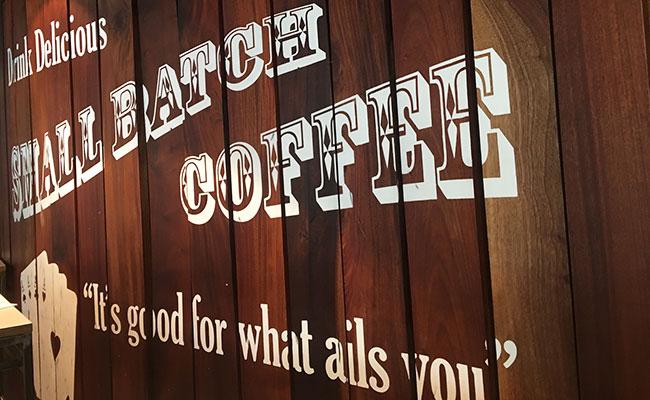 Small Batch coffee wood