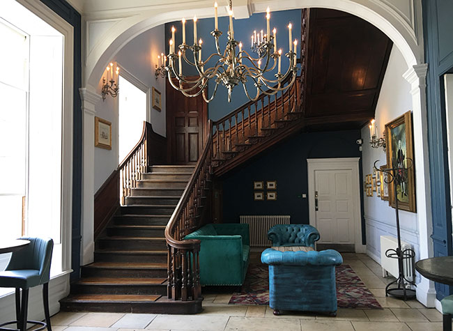 historic hotel staircase