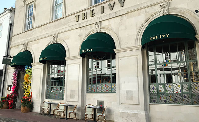 The Ivy in the laines exterior in an old post office Brighton