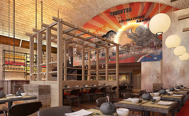 modern ramen restaurant design London